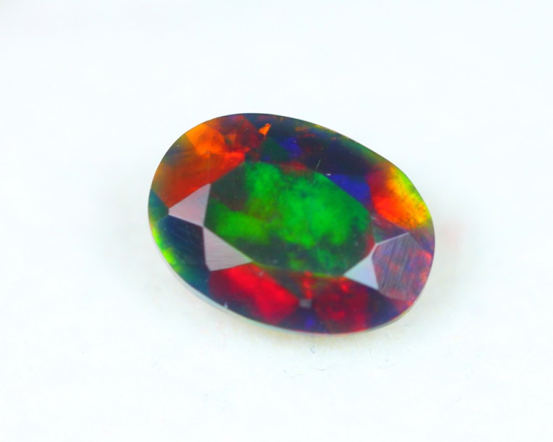 1.16ct Natural Ethiopian Welo Solid Smoked Faceted Opal Lot A862