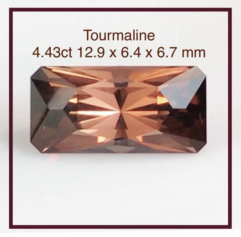 Copper Orange 4.43 ct Precision  Cut Tourmaline - Nigeria G608