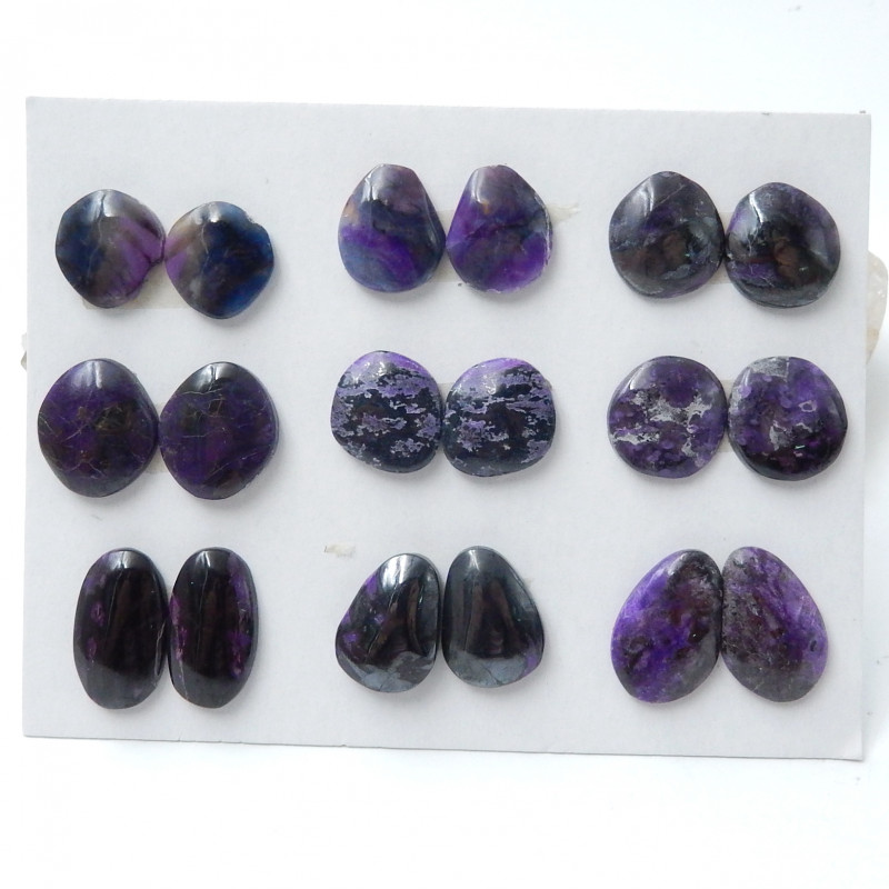 Sugilite Cabochon Pairs ,Handmade Gemstone ,Sugilite Bead ,Lucky Stone  C98