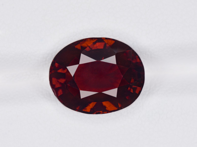 Hessonite Garnet, 8.25ct - Mined in Sri Lanka   Certified by IGI