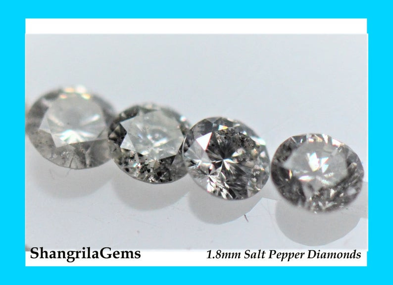 1ct 1.8mm Salt and Pepper Diamonds AA Grade 38 to 40 gems