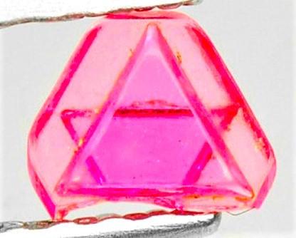 VVS Pink Start of David Spinel Crystal - Untreated - Pein Pyit, Burma