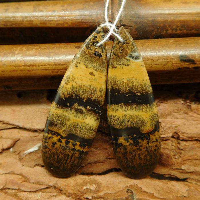 Chohua jasper long earring beads (G0551)