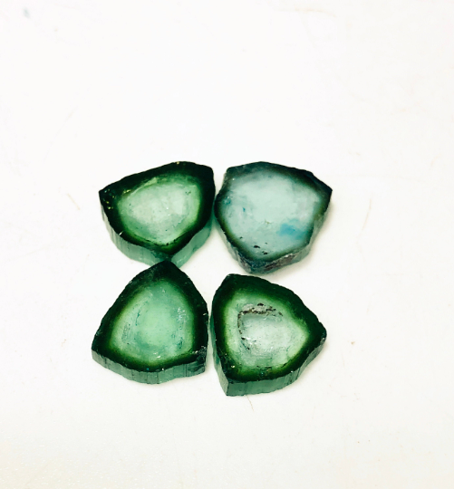 8.60 Carats Natural Watermelon Tourmaline Polished Slices from Afghanistan