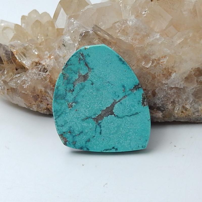 Beautiful Turquoise And Obsidian Intarsia Cabochon,Handmade Gemstone D15