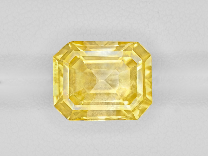 Yellow Sapphire, 8.56ct - Mined in Sri Lanka | Certified by GRS