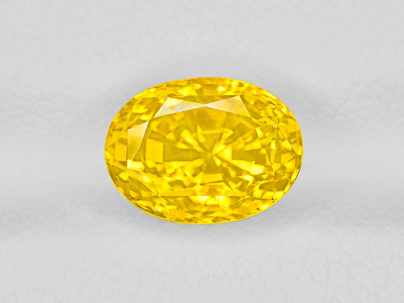 Yellow Sapphire, 4.34ct - Mined in Sri Lanka | Certified by GRS