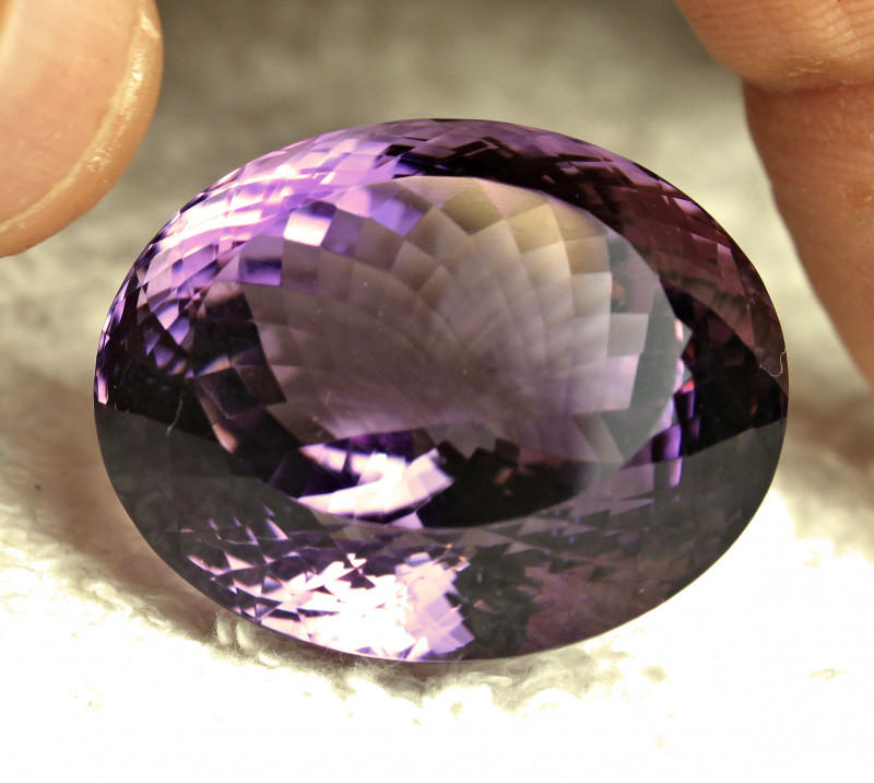 CERTIFIED - 76.11 Carat VVS1 Brazil Purple Amethyst - Gorgeous