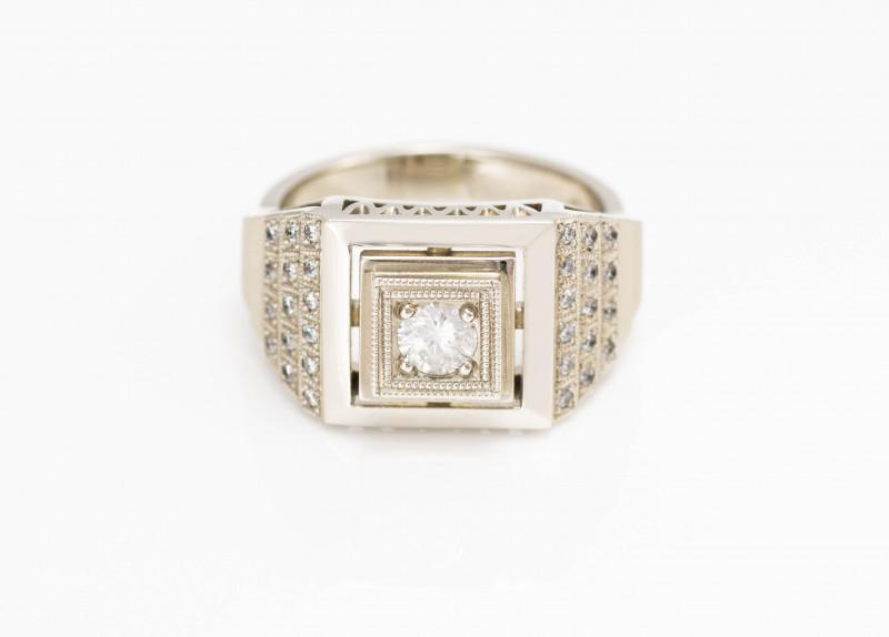 14 kt Gold  Ring 0.50 ct Diamond - New Jewelry