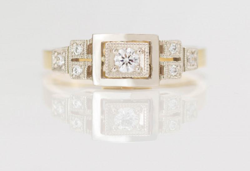 14 kt Gold Ring 0.15 ct Diamond - Diamond - New Jewelry
