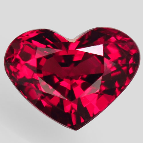 2.08Ct. Natural Pinkish Red Rhodolite Garnet Africa Heart Attractive Unheat