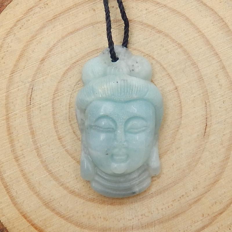 New Arrival Buddha Pendant Carved Amazonite Gemstone Cabochon D40