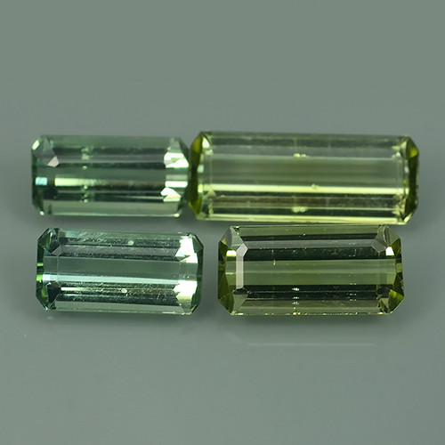 6.30 CTS AWESOME NATURAL GREEN TOURMALINE GEMS 4 PARCEL