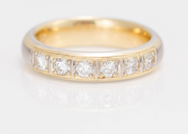 14 kt Gold - Ring  0.57 ct Diamond  - New Jewelry