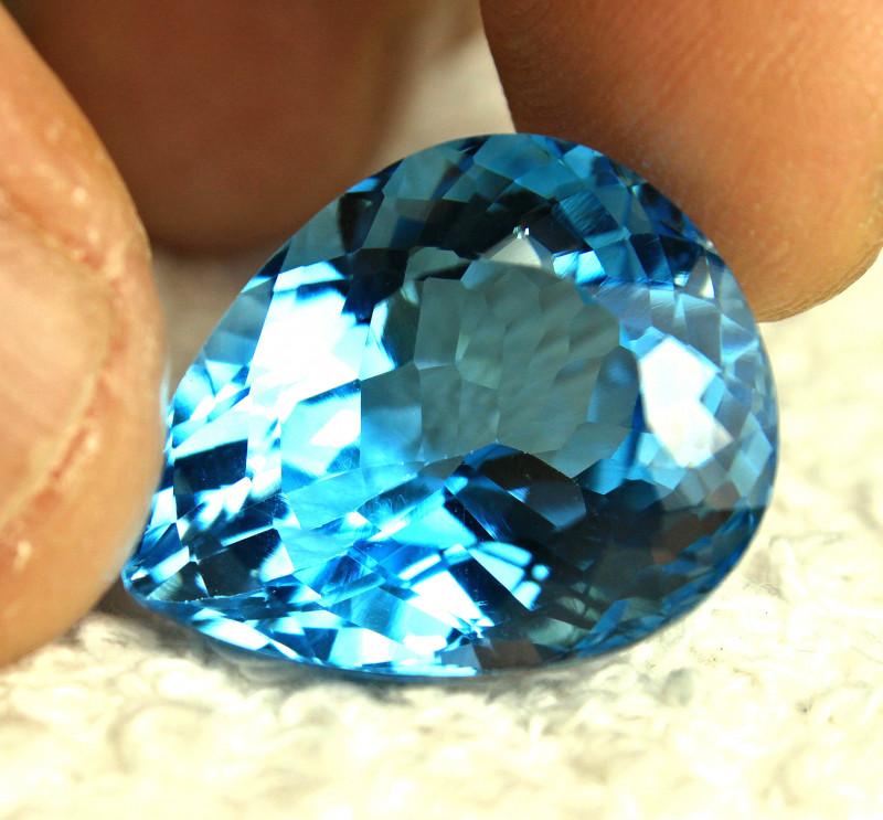36.02 Carat Brazil VVS Blue Topaz - Gorgeous