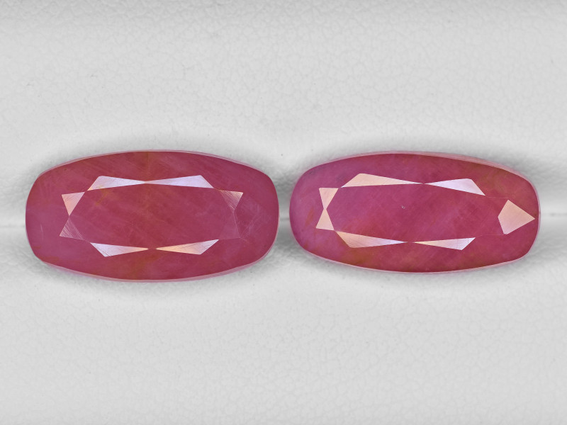 Pair of Rubies, 17.64ct - Mined in Guinea   Certified by IGI
