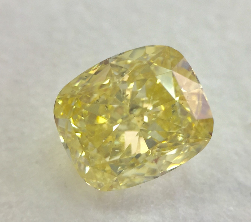 GIA Certificate Cushion 1.71 Carat Natural Fancy Yellow Polished Loose Diam