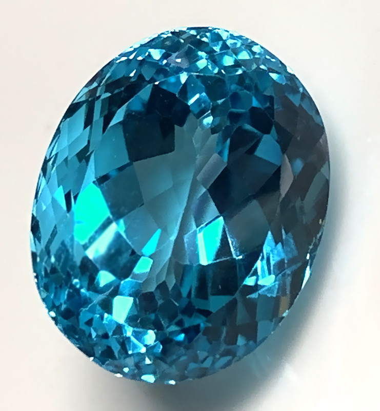38.10ct Jewellery Grade Swiss Blue Topaz VVS