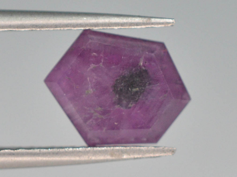 Rarest 1.45 ct Trapiche Pink Kashmir Sapphire ~ G AQ
