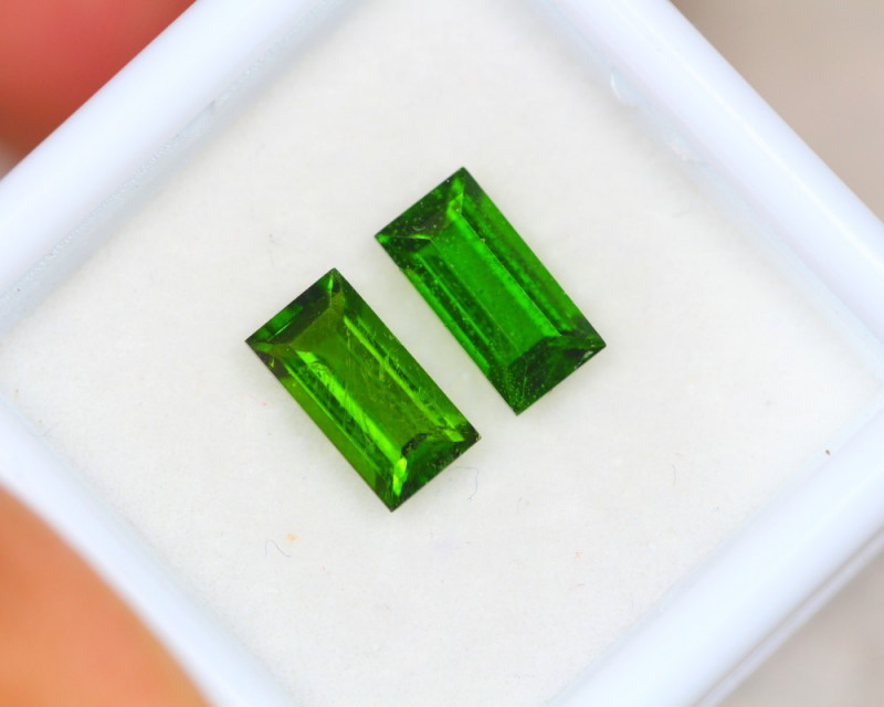 1.87ct Chrome Diopside Jewelry Pair Lot D48