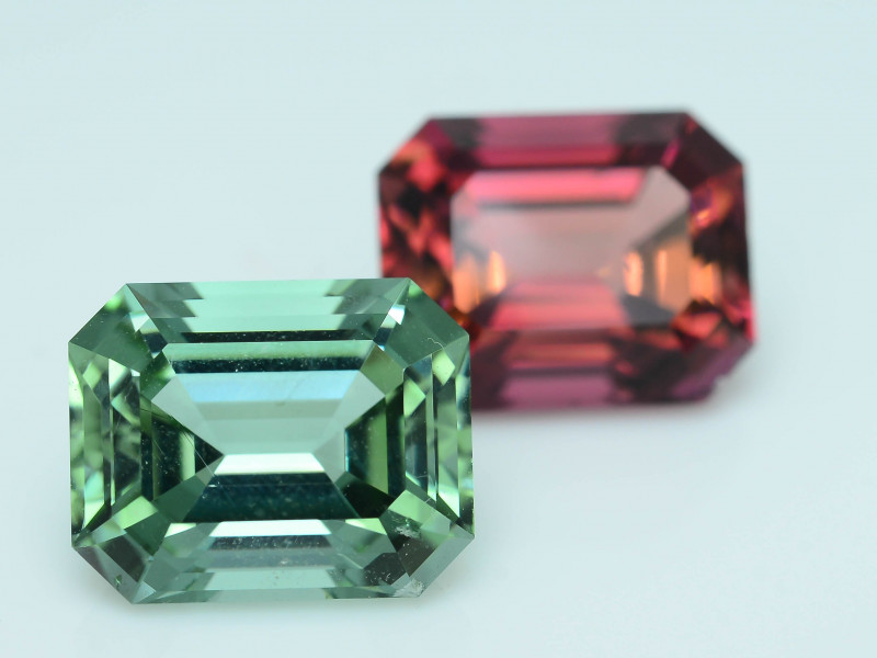 AAA Grade 10.53 ct Amazing Color Tourmaline Pair