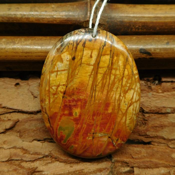 natural picasso jasper pendant  (G0804)