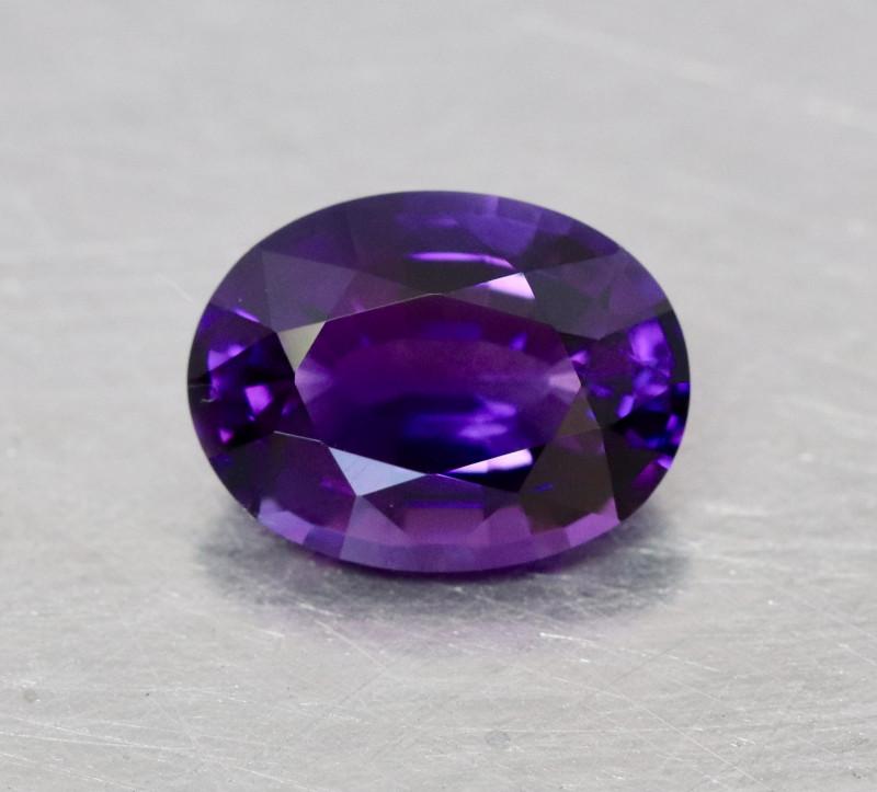 Rich neon purplish violet Rwandan amethyst.