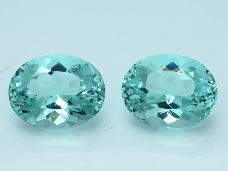 AAA Grade 9.73 ct  Neon Blue Color Tourmaline Pair