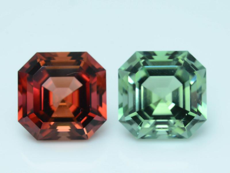 AAA Grade 8.50 ct Amazing Color Tourmaline Pair