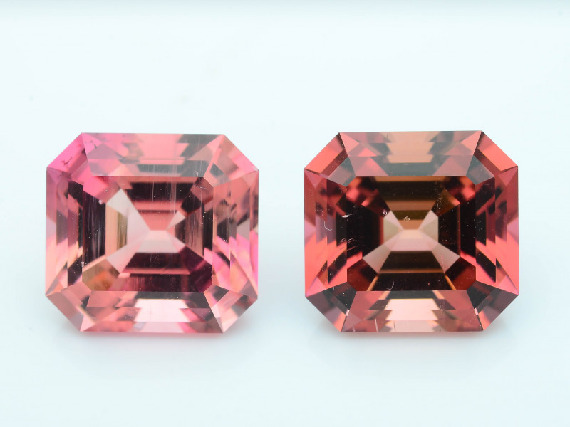 AAA Grade 11.68 ct Amazing Color Tourmaline Pair