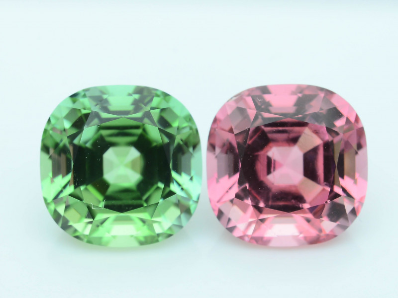 AAA Grade 8.21 ct Amazing Color Tourmaline Pair
