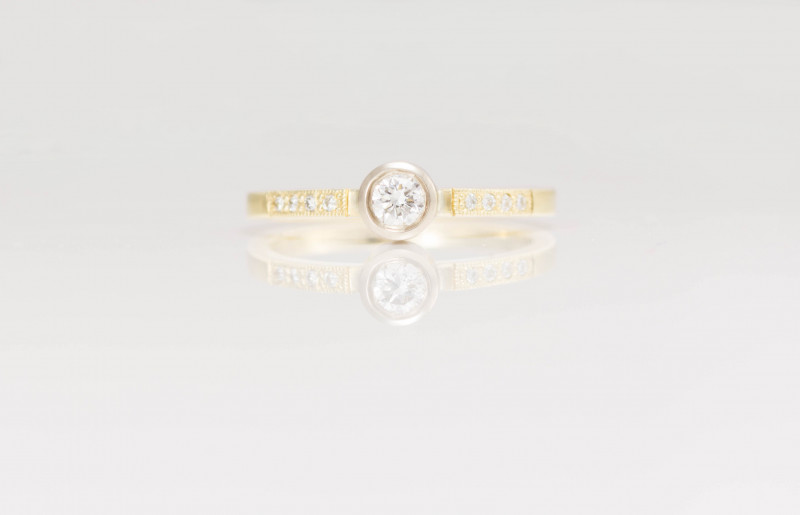 14 kt Gold  Ring  0.41 ct Diamond - New Jewelry