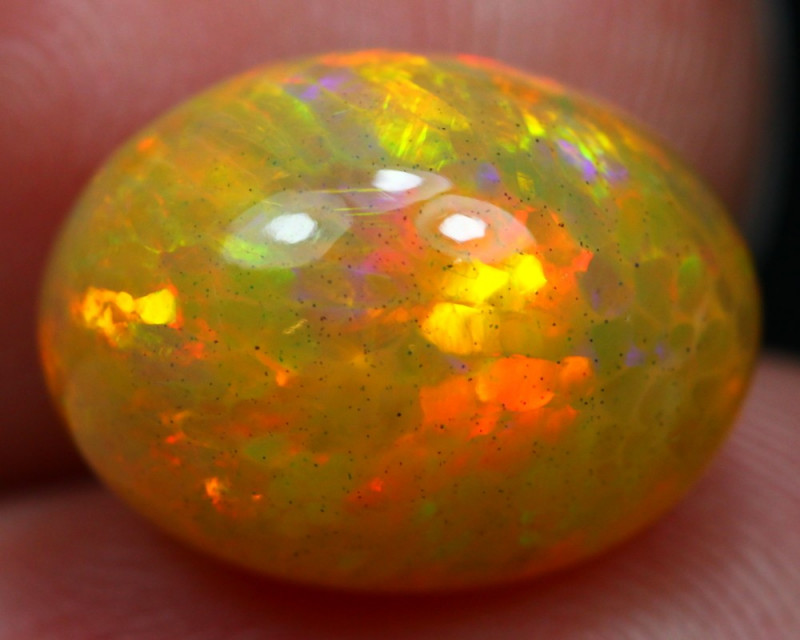 Opal 5 65Ct Hexagon Flash Honeycomb Natural Ethiopian Welo Opal A1106
