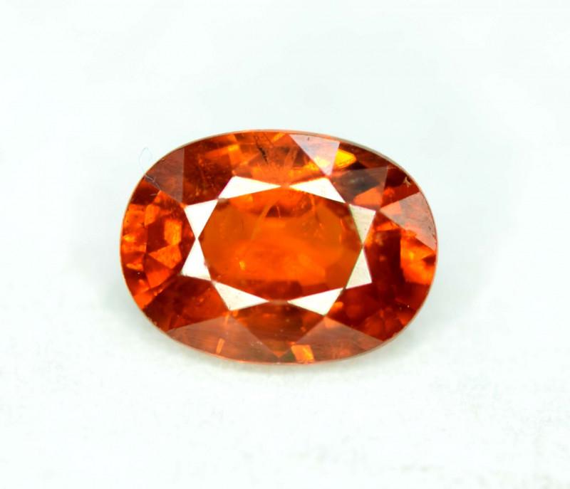 1.50 Carats Reddish Orange Color Spinel Gemstone