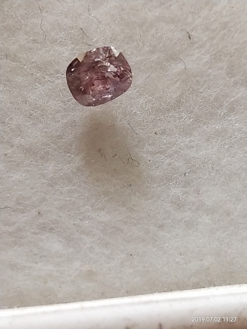 NATURAL-ARGYLE DEEPPURPLE DIAMOND,0.25CTW,1PCS