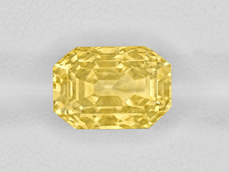 Yellow Sapphire, 8.58ct - Mined in Sri Lanka | Certified by GIA