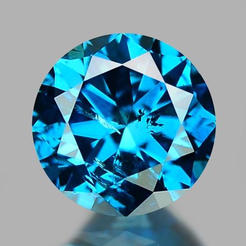 0.30 CT DIAMOND SPARKLING BLUE COLOR BD35