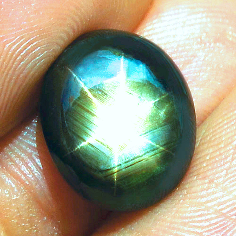 11.66 Carat Thailand Black Star Sapphire - Gorgeous