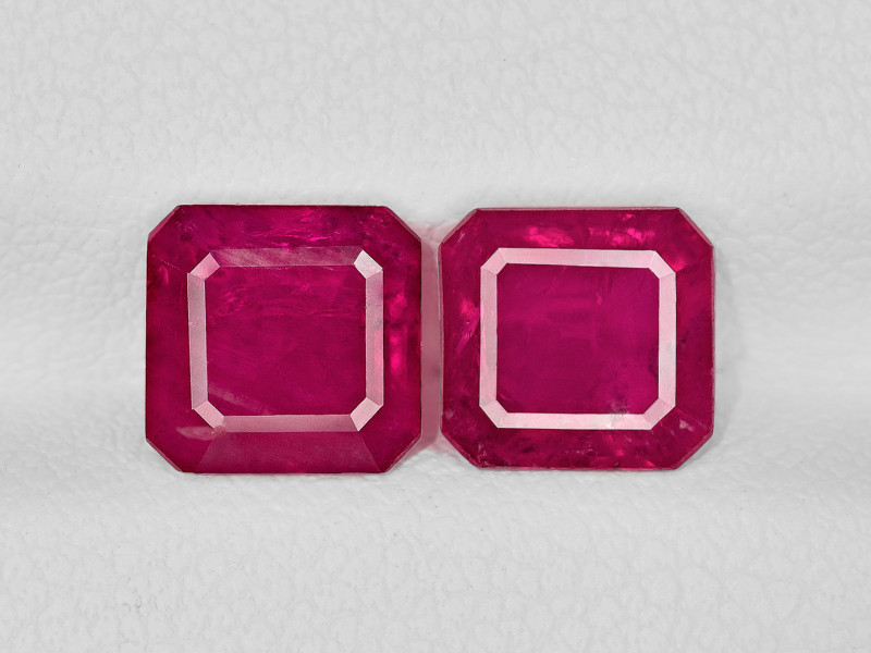 Pair of Rubies, 3.36ct - Mined in Afghanistan | Certified by IGI