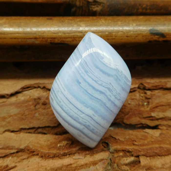 Natural gemstone blue lace agate cabochon (G0647)