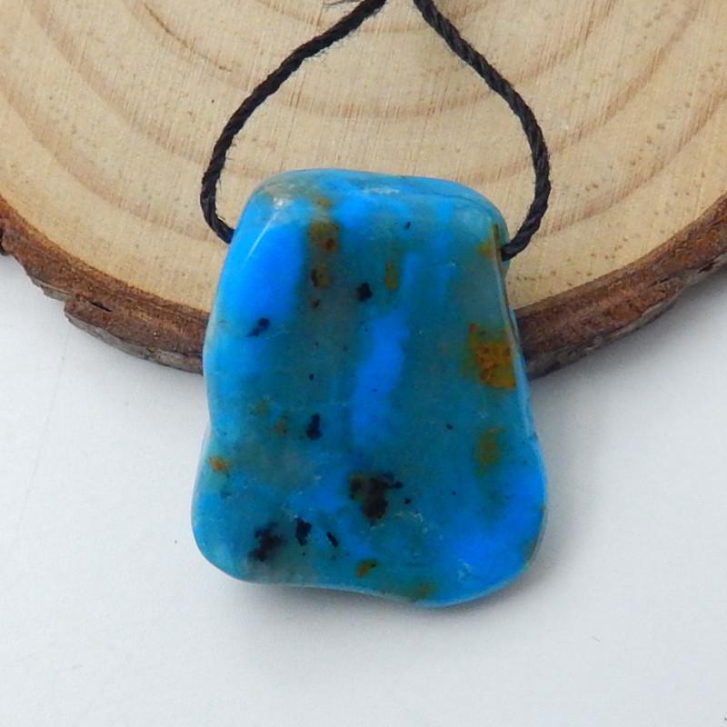 20.5cts Blue Opal Pendant Bead, October Birthstone, Blue Opal Bead E355