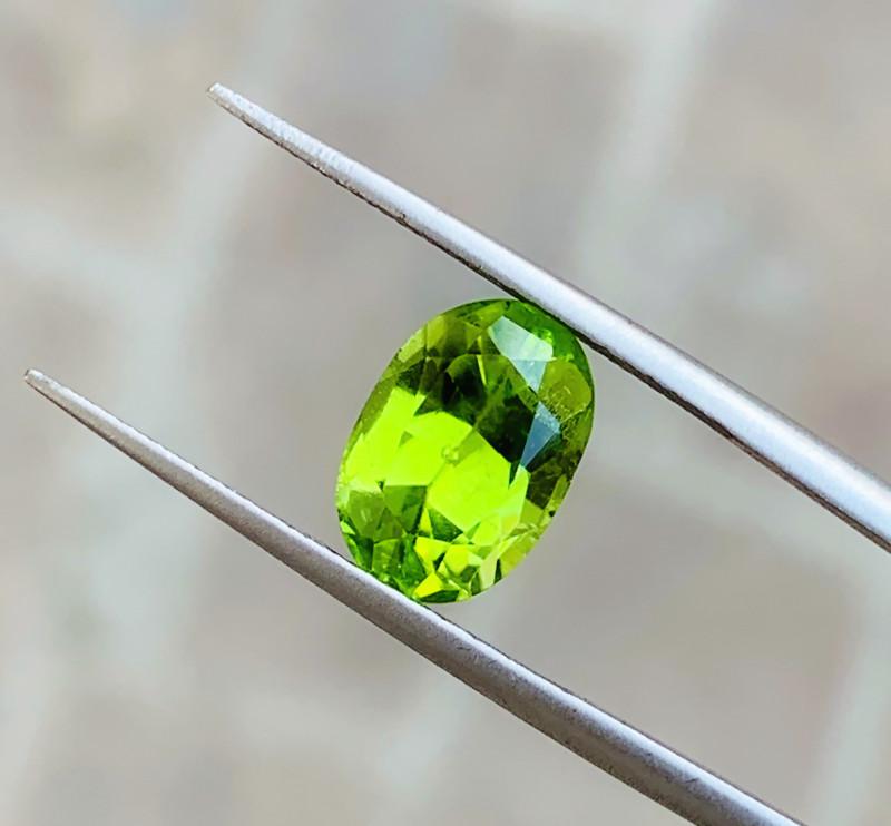 2.80 Ct Natural Green Yellow Semi Transparent Peridot Gemstone
