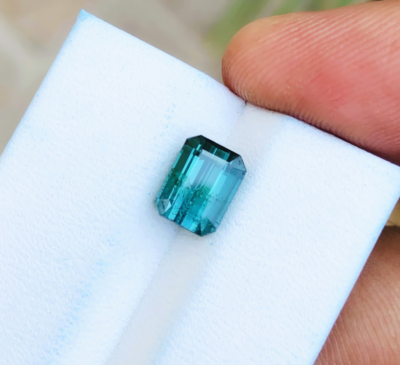 2.15 Ct Natural Blueish Green  Transparent Tourmaline Gemstone