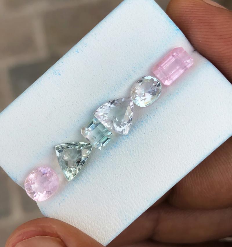 7 Ct Natural Pinkish Transparent Tourmaline Gems Parcels