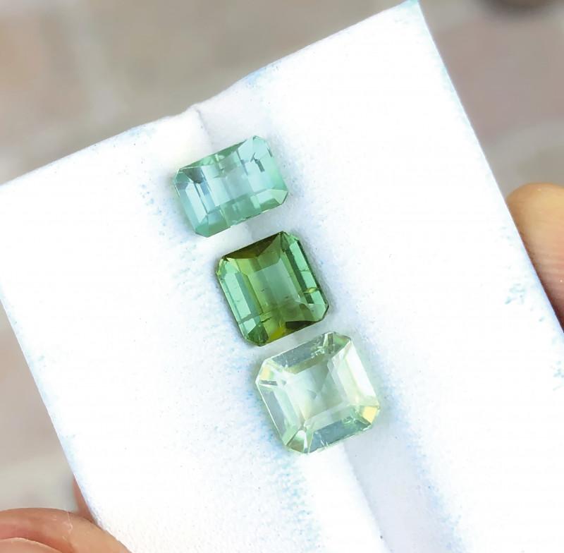 4.30 Ct Natural Green SeaFoam Transparent Tourmaline Gems