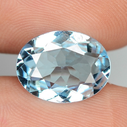 4.40 CTS FANCY SWISS BLUE COLOR TOPAZ NATURAL GEMSTONE