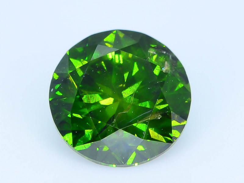 AIG Certified 0.91 ct I1 Clarity Green Diamond SKU-13