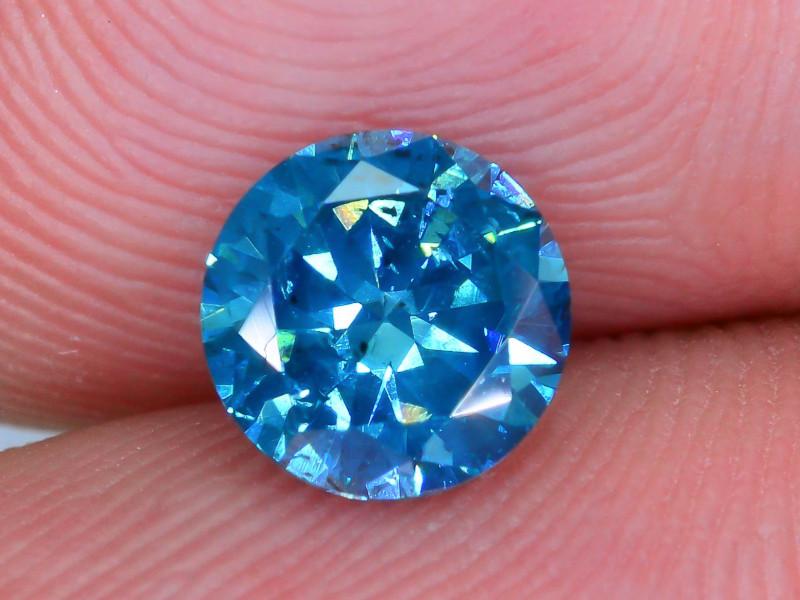 AIG Certified 0.94 ct I1 Clarity Blue Diamond SKU-13