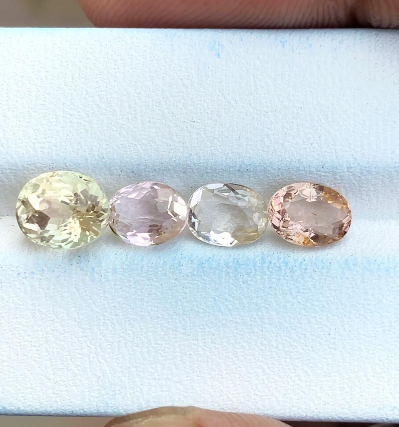 4.65 Ct Natural Pinkish Transparent Tourmaline Gemstones Parcels