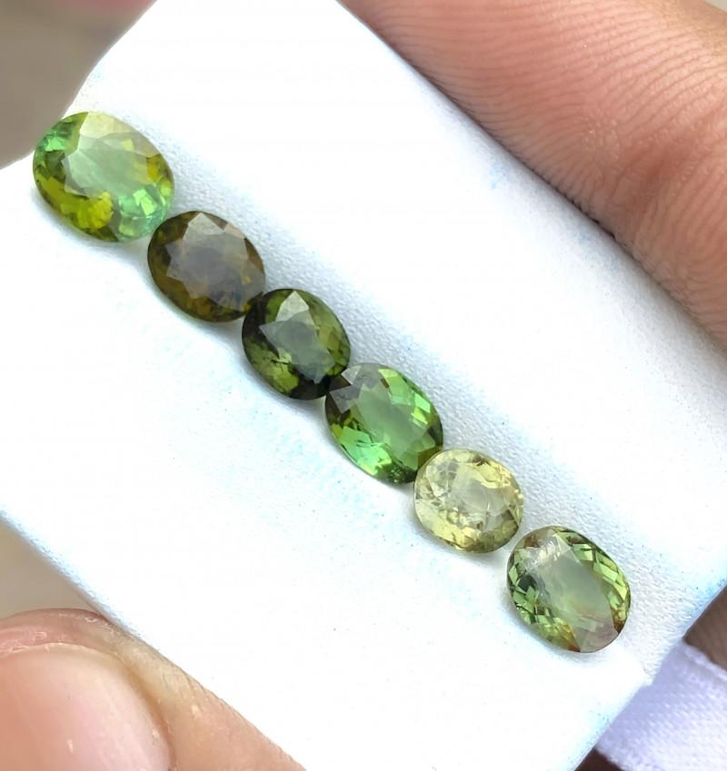 5.45 Ct Natural Greenish Transparent Tourmaline Gems Parcels